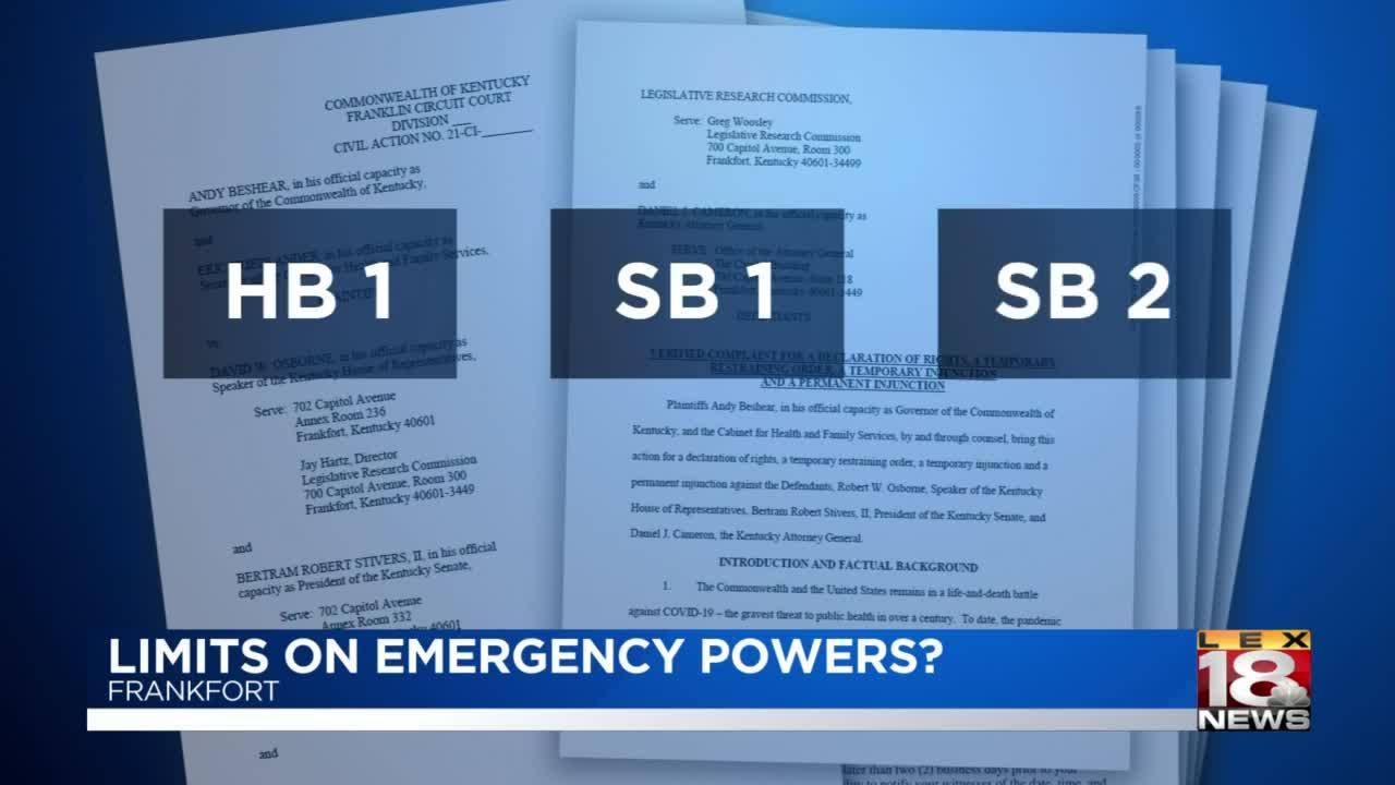 Limits on Gov. Beshear's emergency powers?