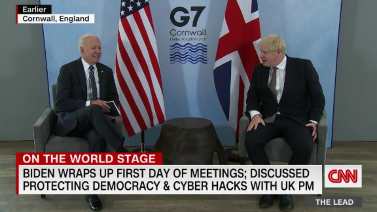 Biden chats with UK Prime Minister - whom he once called a Trump 'clone' - ahead of summit with Putin