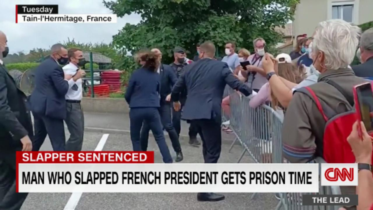 Man who slapped French president gets prison time
