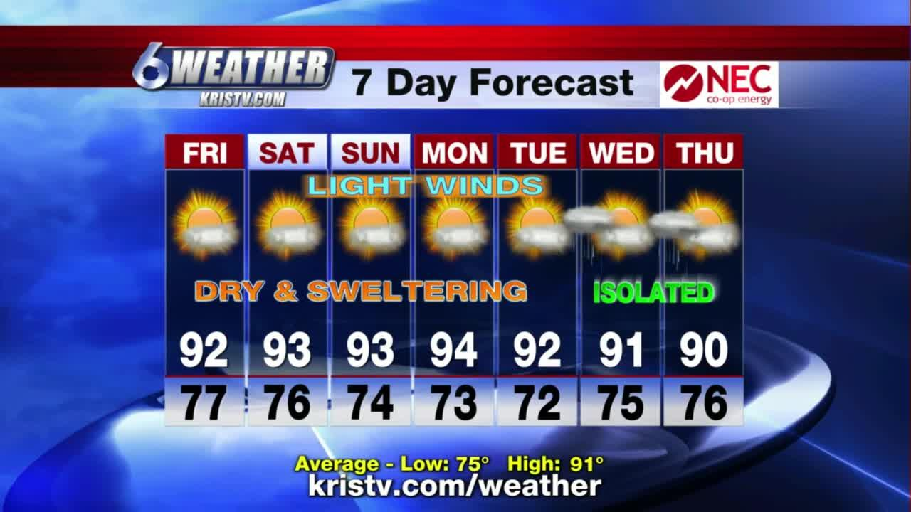 KRIS 6 News at 5p.m. weather-forecast 06/10/2021