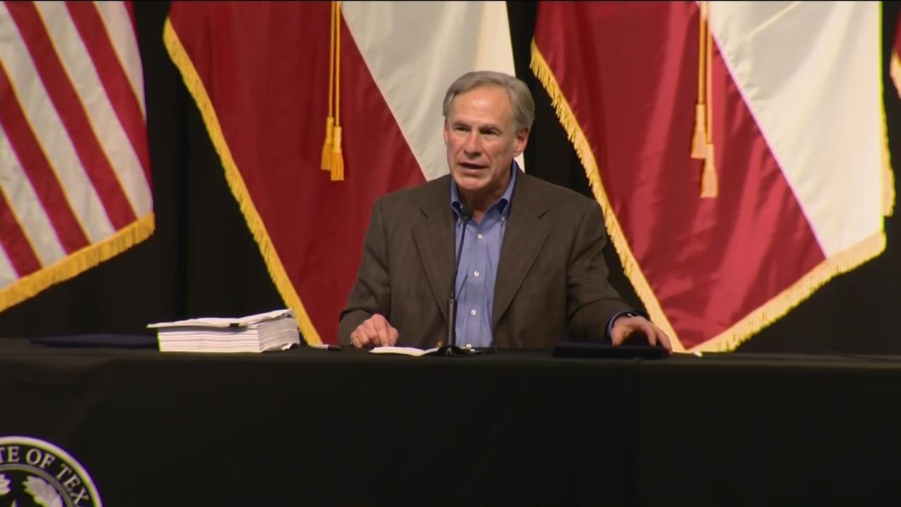 Raw Audio: Abbott Says Texas Will Continue Building Border Wall