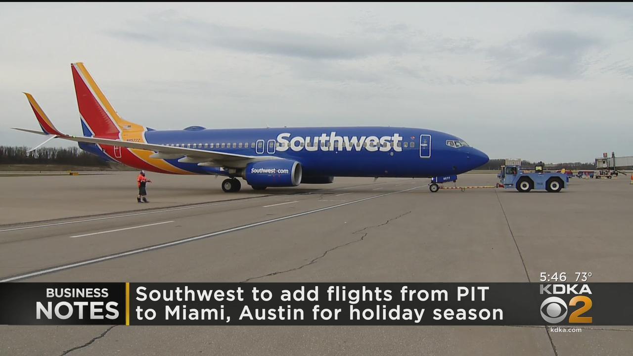 Southwest Adds 2 Seasonal Non-Stop Flights At Pittsburgh International Airport