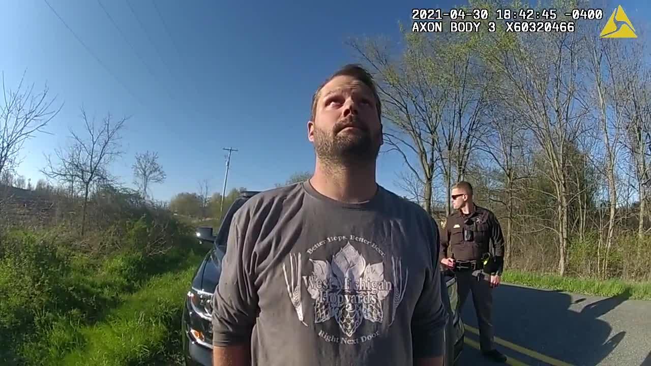 Bodycam 1: Rep. Bryan Posthumus OWI crash