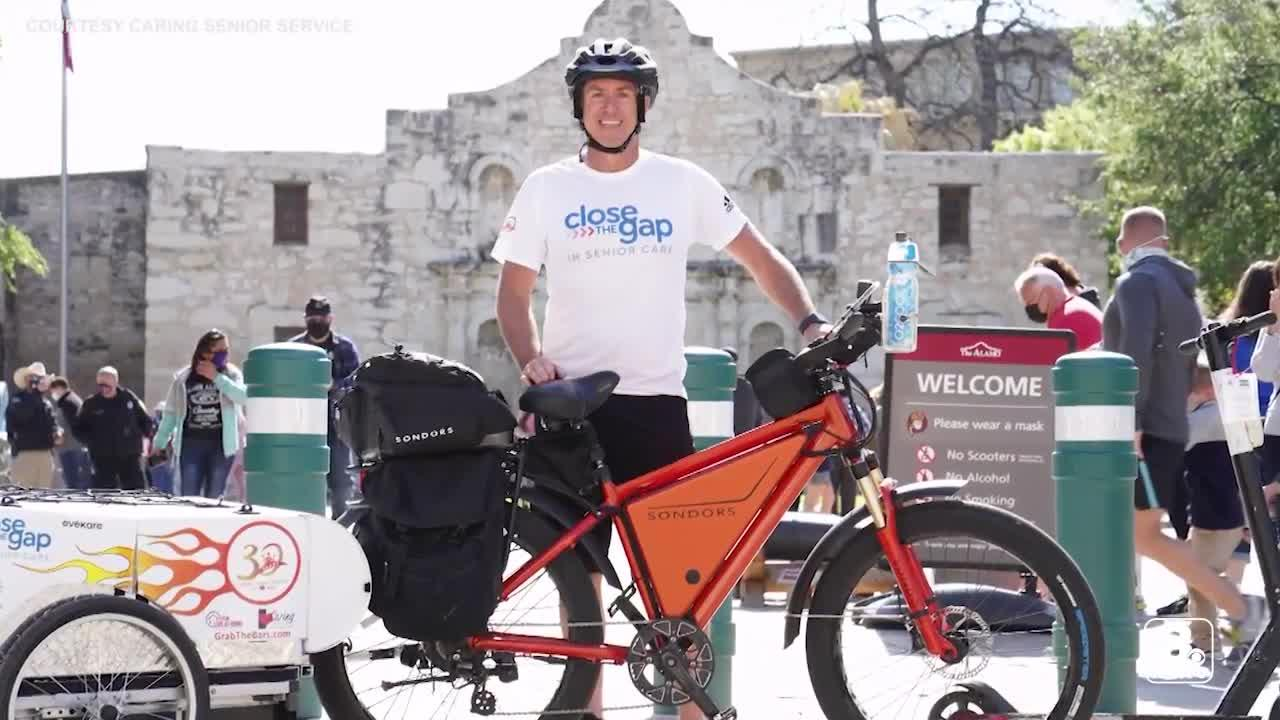 CEO cycles thousands of miles cross-country to raise awareness for senior care