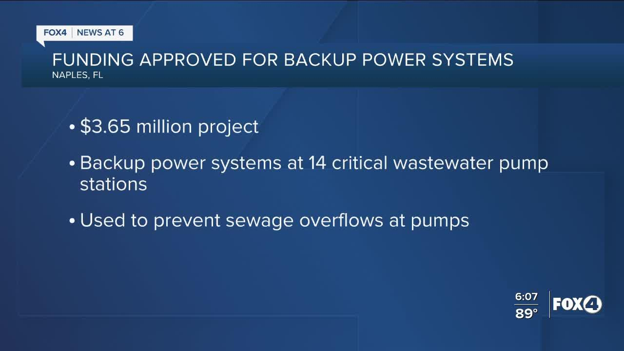 Naples approves backup power systems