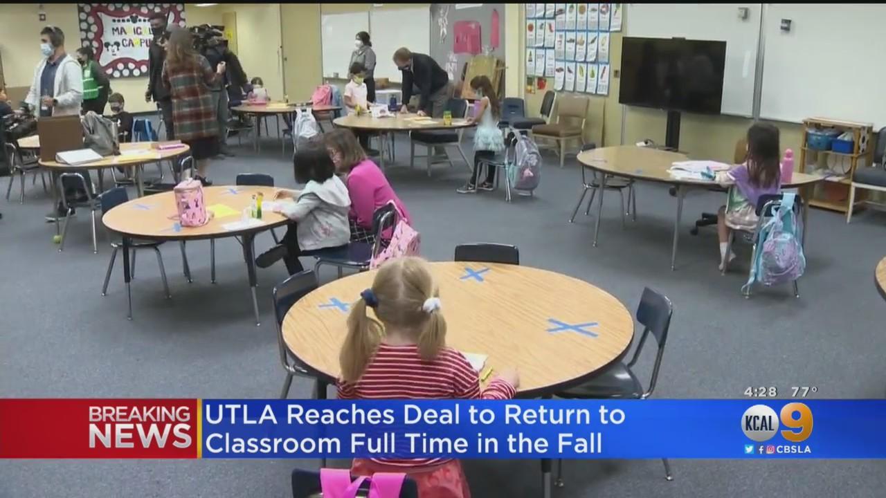 UTLA, LAUSD Reach Tentative Agreement For Full Return To Campus In Fall