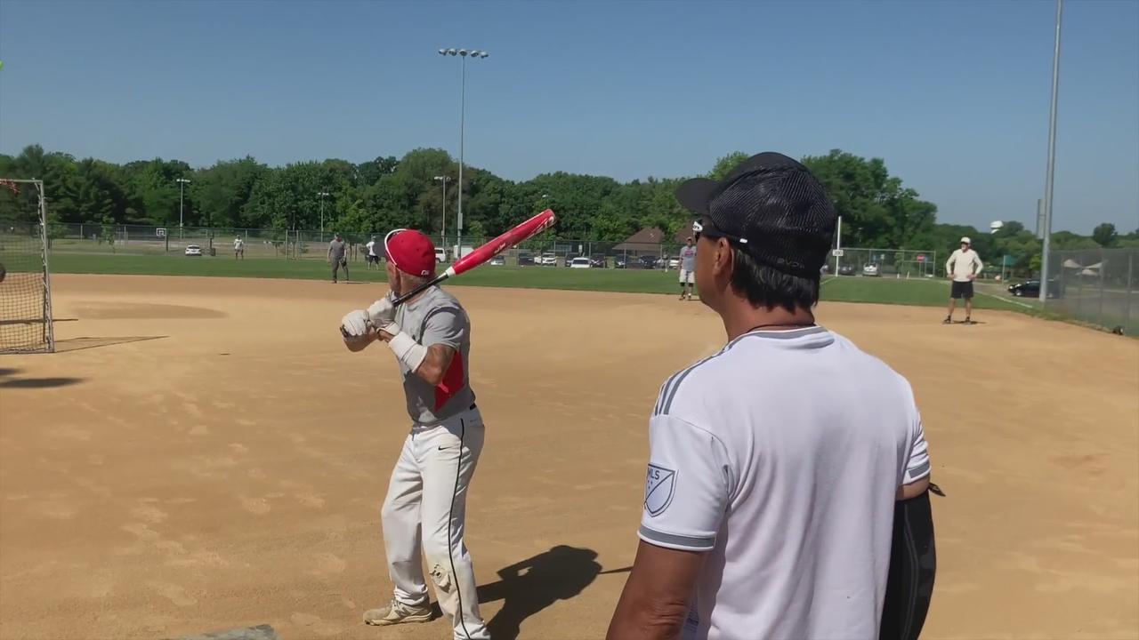 Senior Softball In The Sun