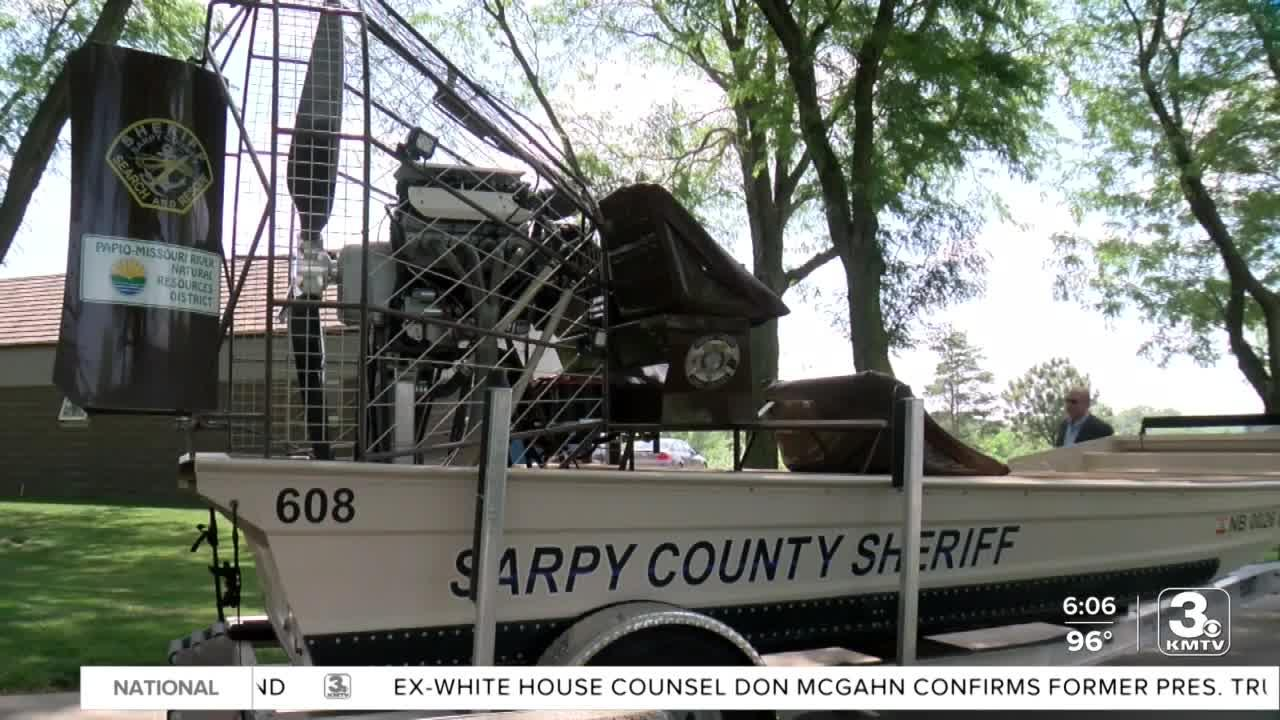 Sarpy County Sheriff's Office, NRD unveil new airboat Thursday