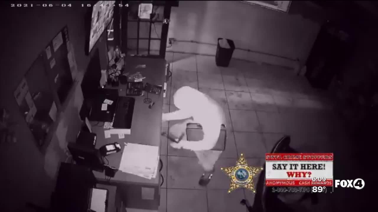 Deputies searching for business burglar