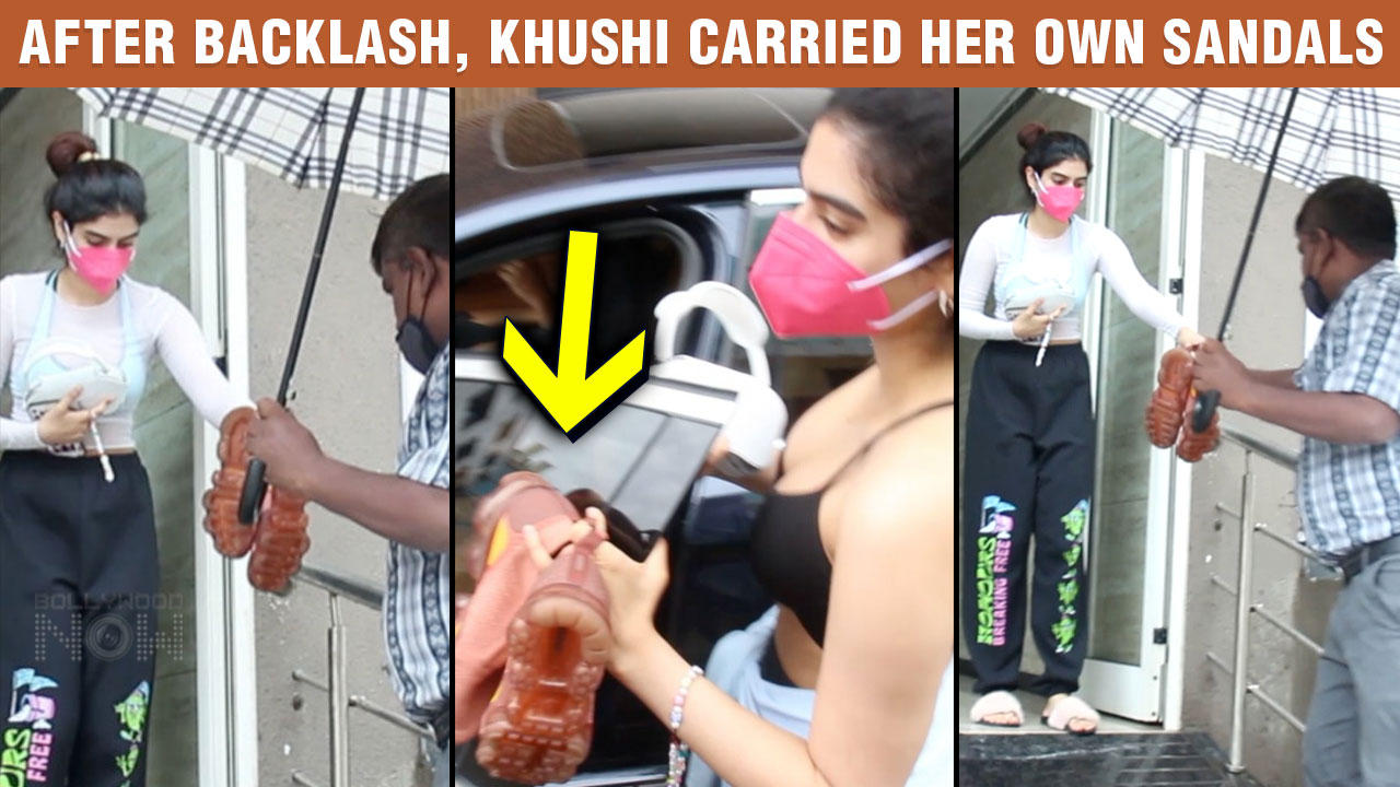After Facing INSULTS, Khushi Kapoor Carries Her Own Chappals Outside The Gym