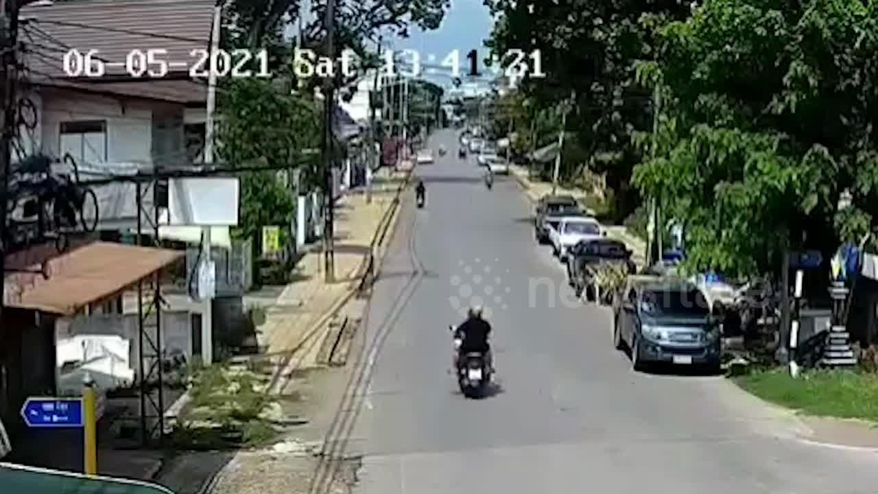 300-year-old tree pulls down electric pole onto motorcycle after storm