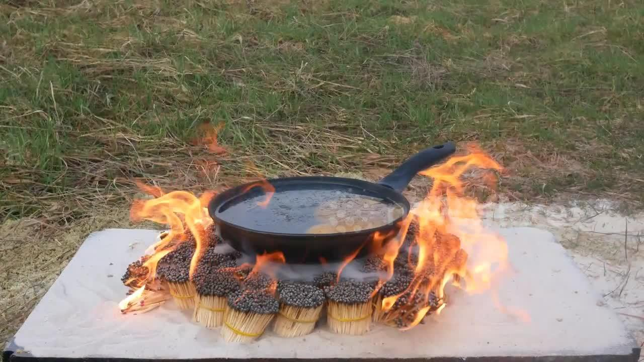 Ukrainian YouTuber attempts to cook ostrich egg with 12,000 matches