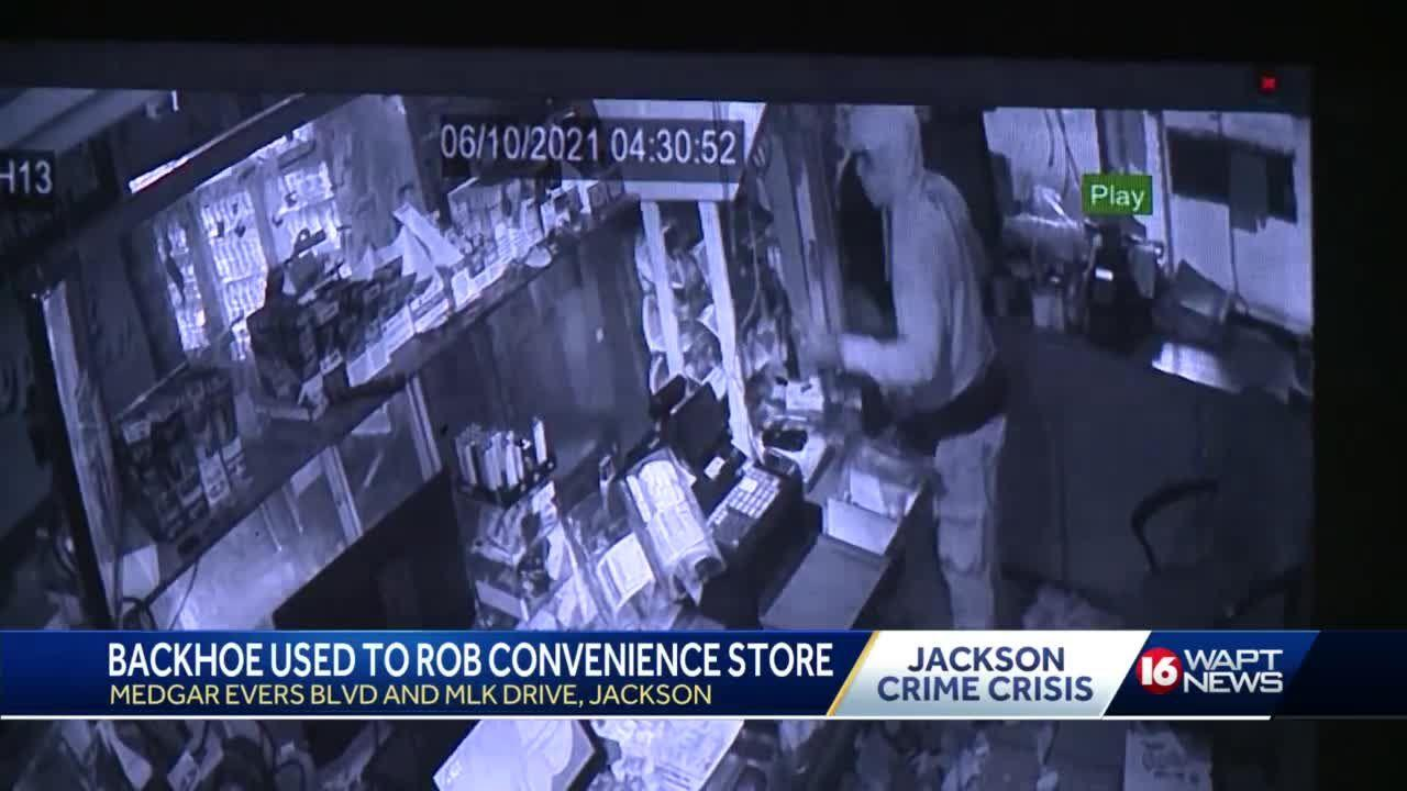 Construction Equipment used to Break Into Store
