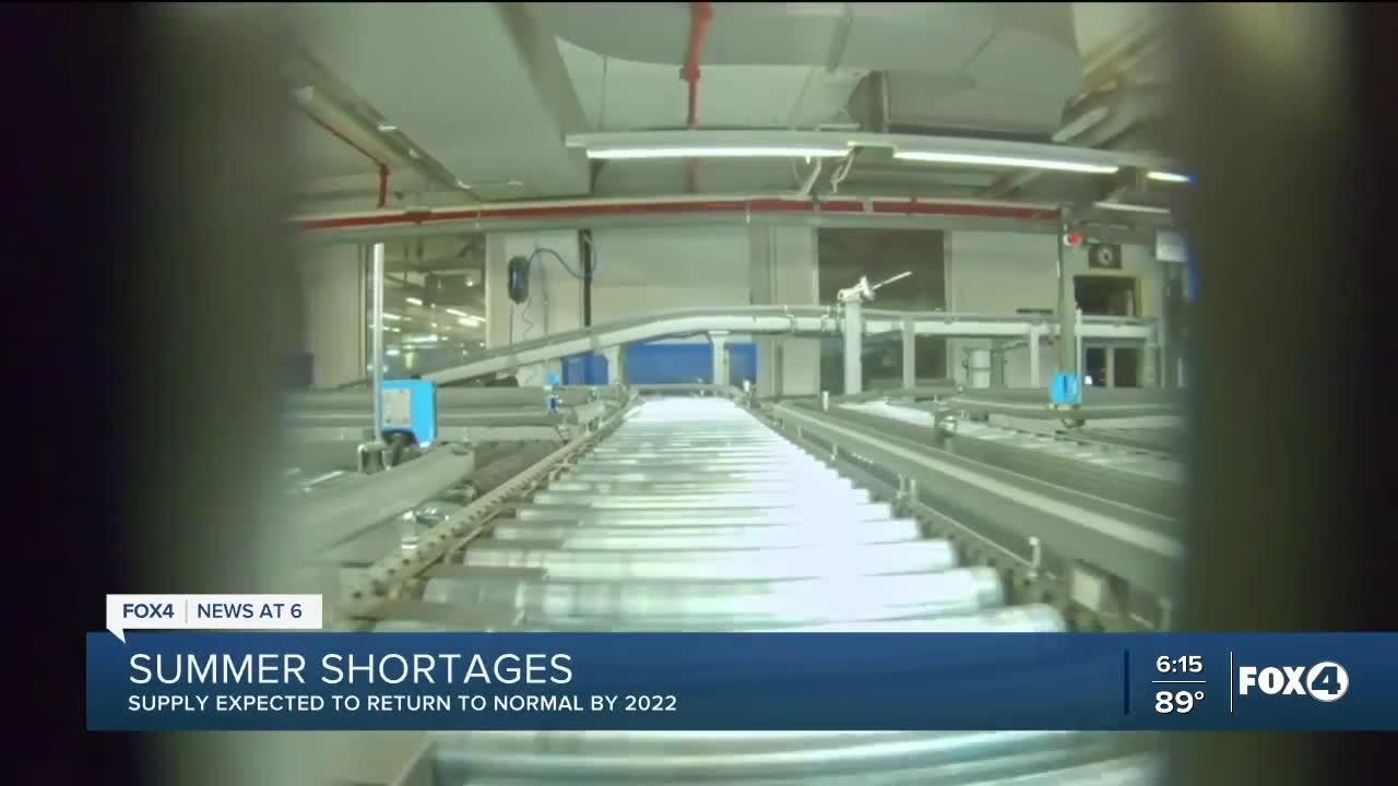 Several goods will be in short supply this summer, but experts say it'll be short-lived