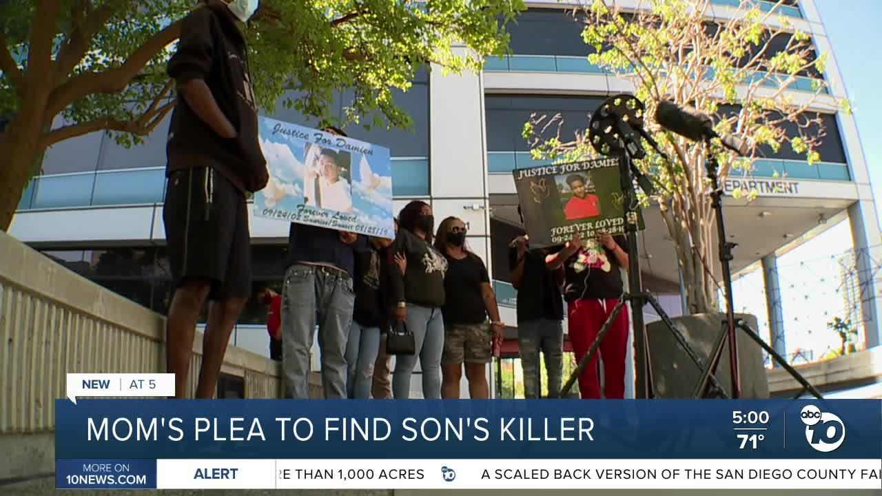 San Diego mom pleads for help to find son's killer