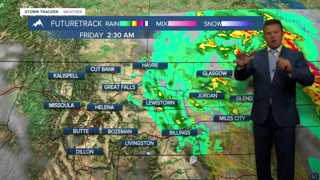 Severe Storms & Mountain Snow Will Clear