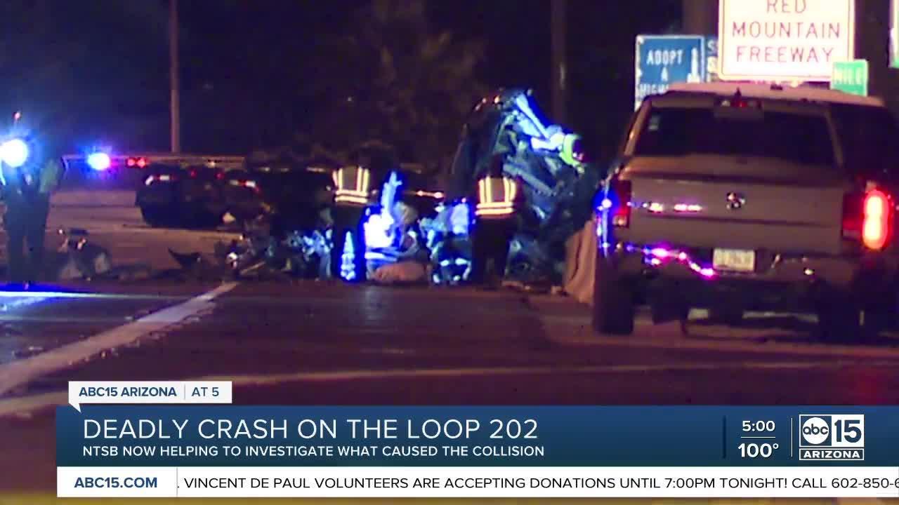 The NTSB is now investigating a deadly crash that happened on Loop 202 overnight