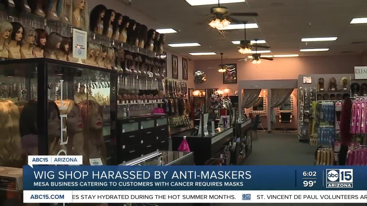 Mesa wig shop that caters to cancer patients harassed by anti-maskers