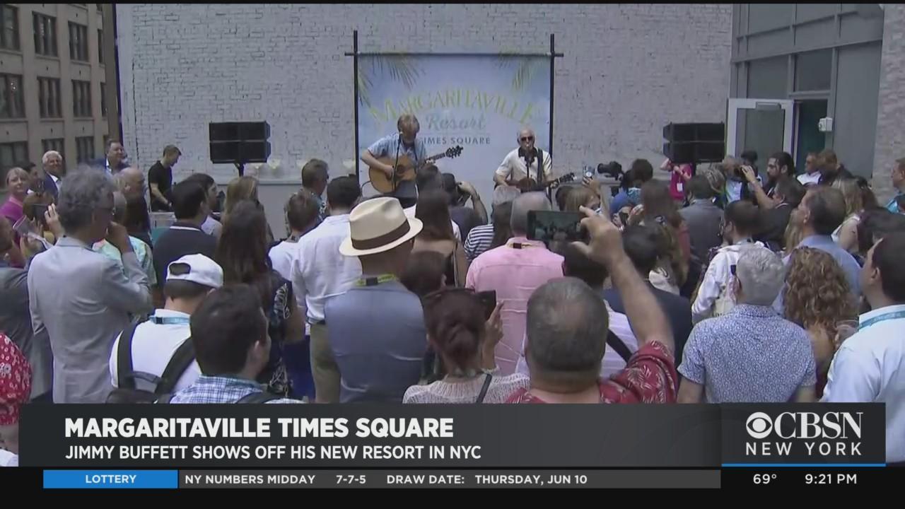 Jimmy Buffett Shows Off New Times Square Resort