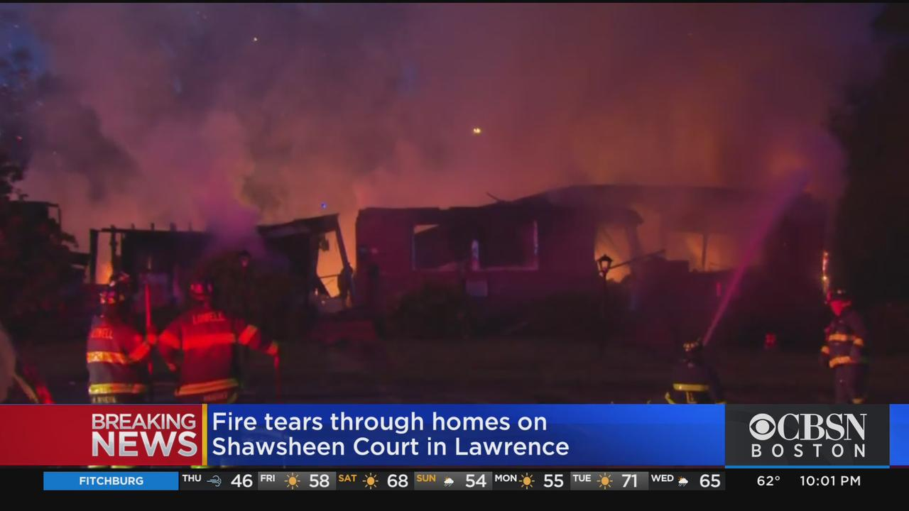 Fire Tears Through 12 Homes In Lawrence