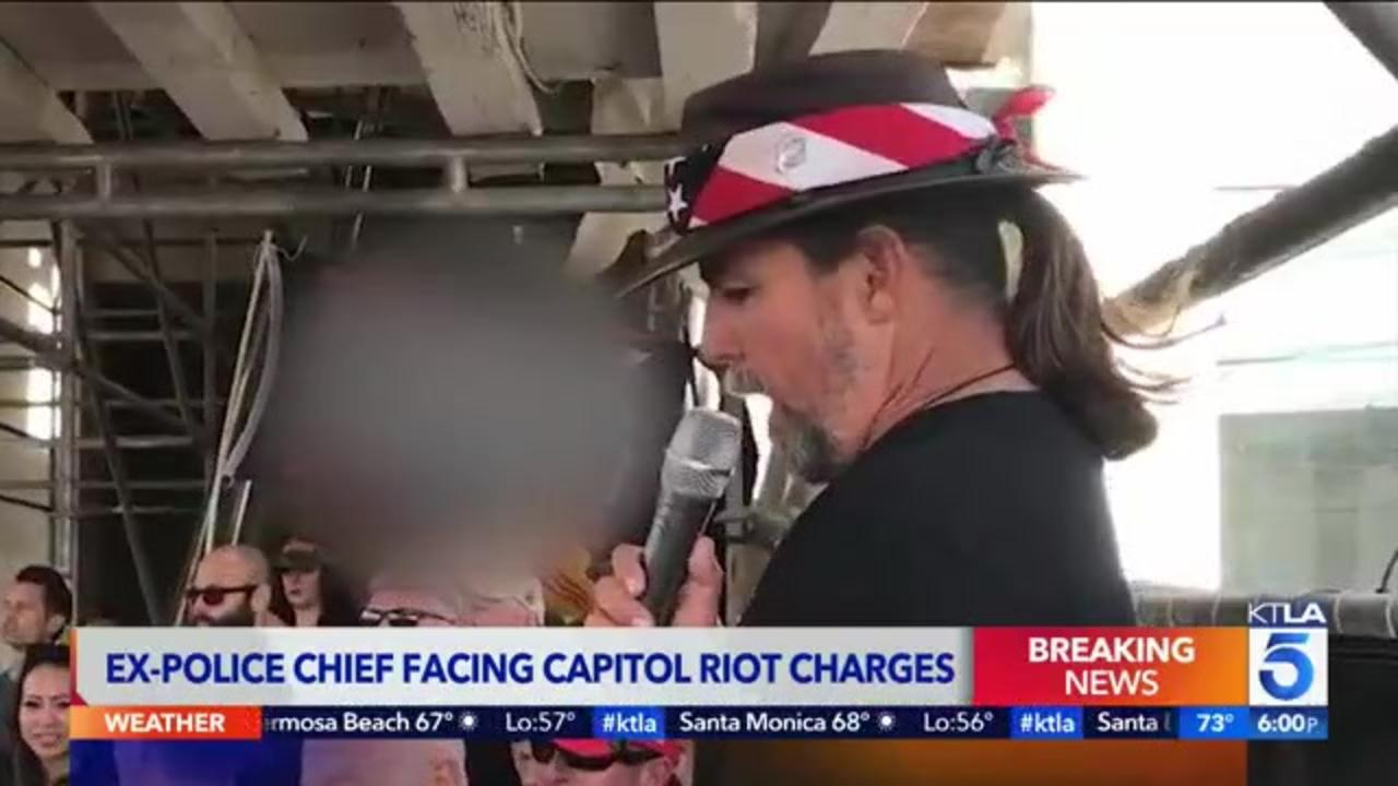 Former police chief among 5 other men arrested and charged in U.S. Capitol riot