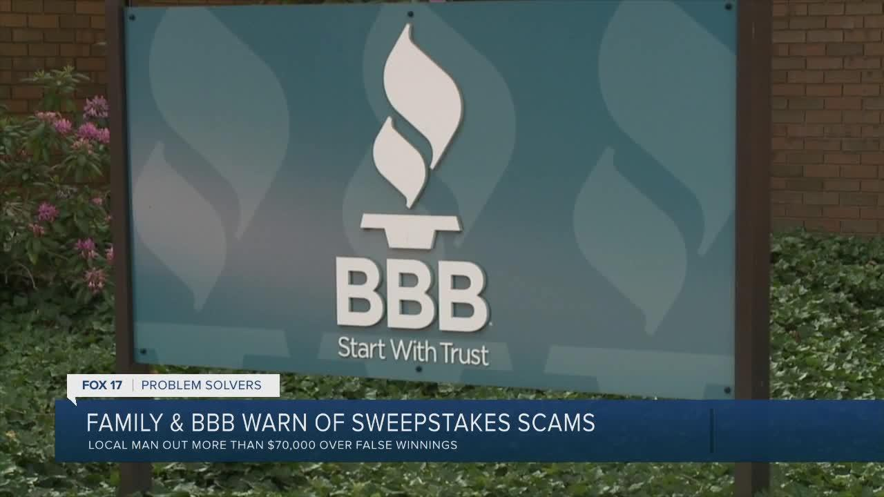 Family & BBB warn of sweepstakes scams