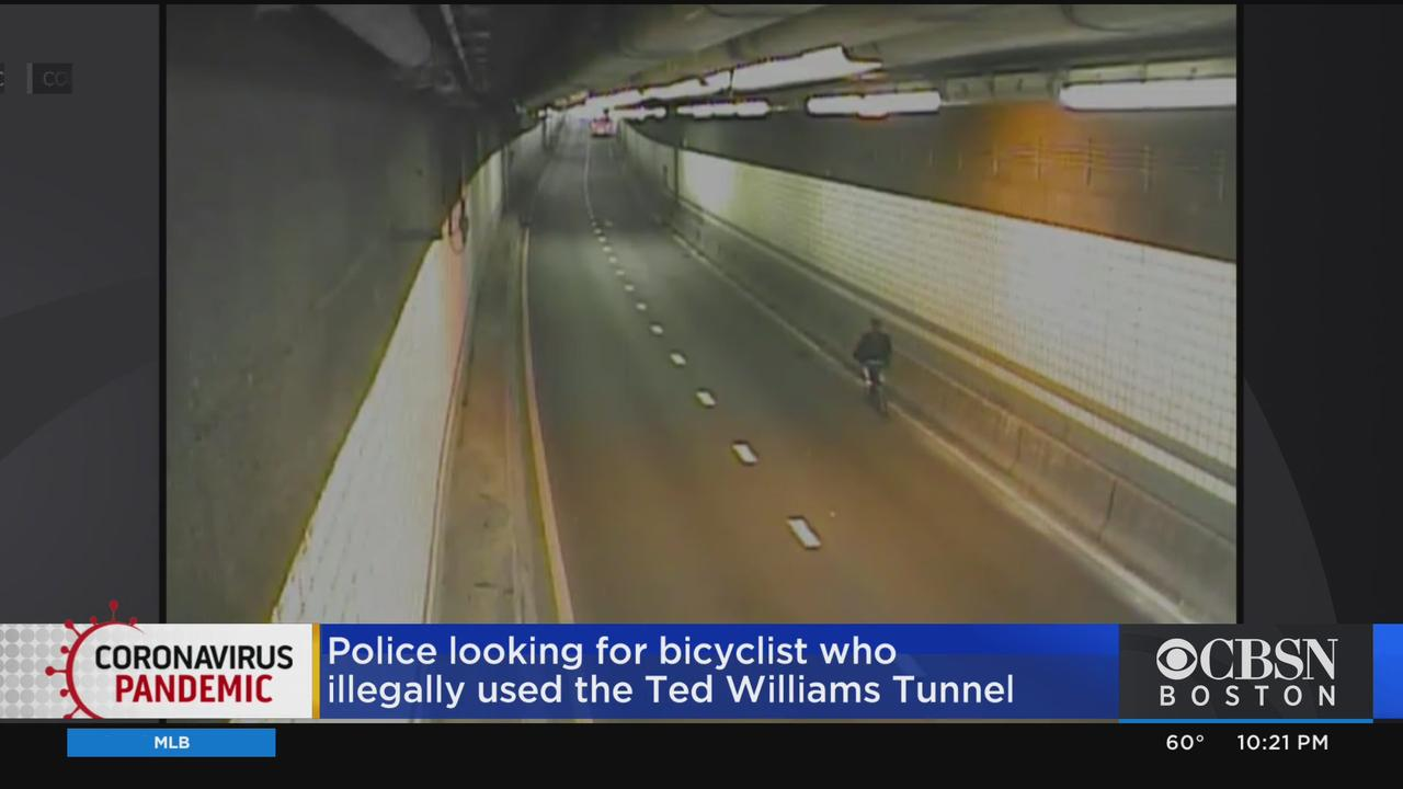 MassDOT Camera Captures Person Riding Bike Through Ted Williams Tunnel