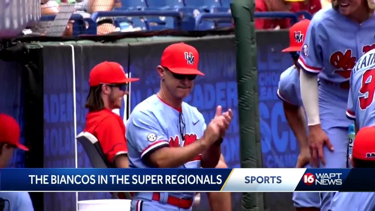 Rebels head coach and his son are in the Super Regionals