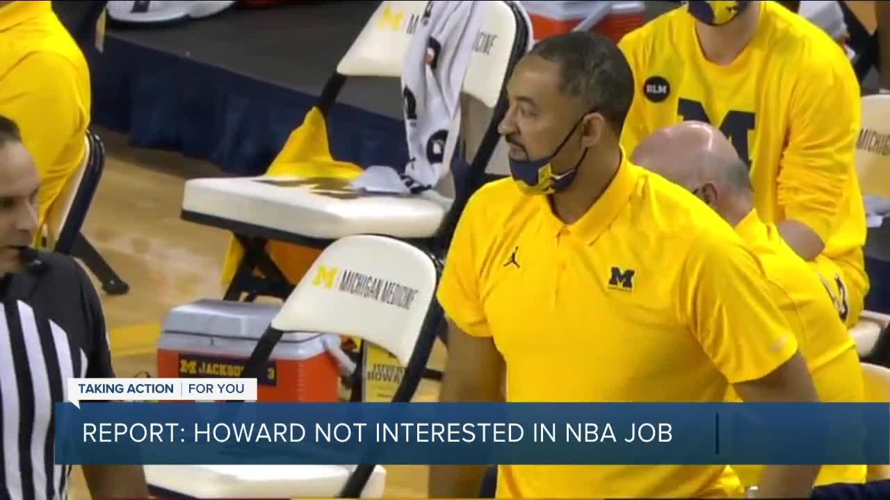 Report: Howard not interested in leaving Michigan for NBA job