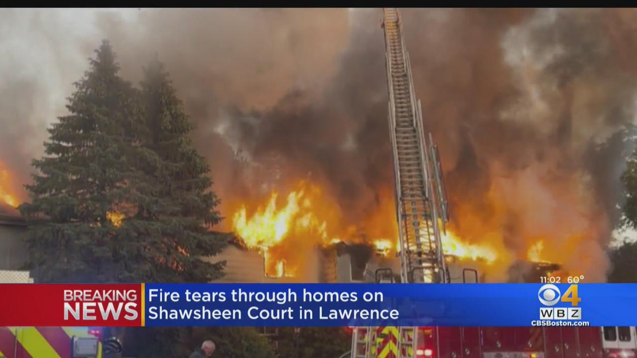 Fire Tears Through Row Of Homes In Lawrence