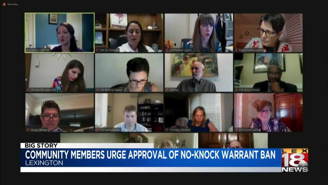 Debate over proposed no-knock warrant ban continues