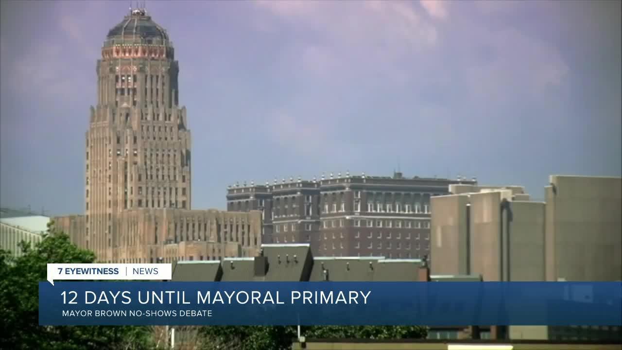 Buffalo mayoral candidates debate, Mayor Brown no-shows