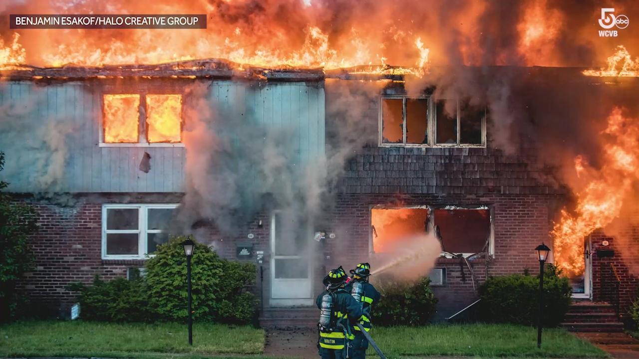 Massive fire rips through 10 unit condo building