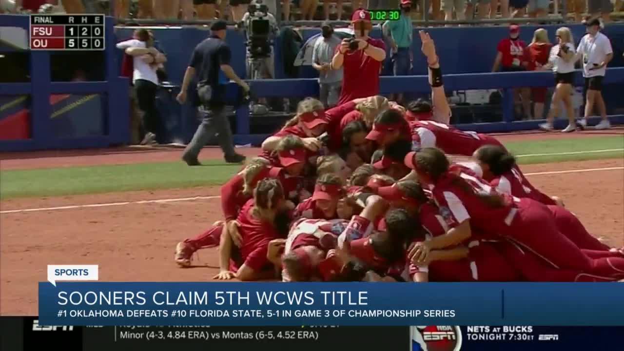 Sooners claim fifth WCWS title