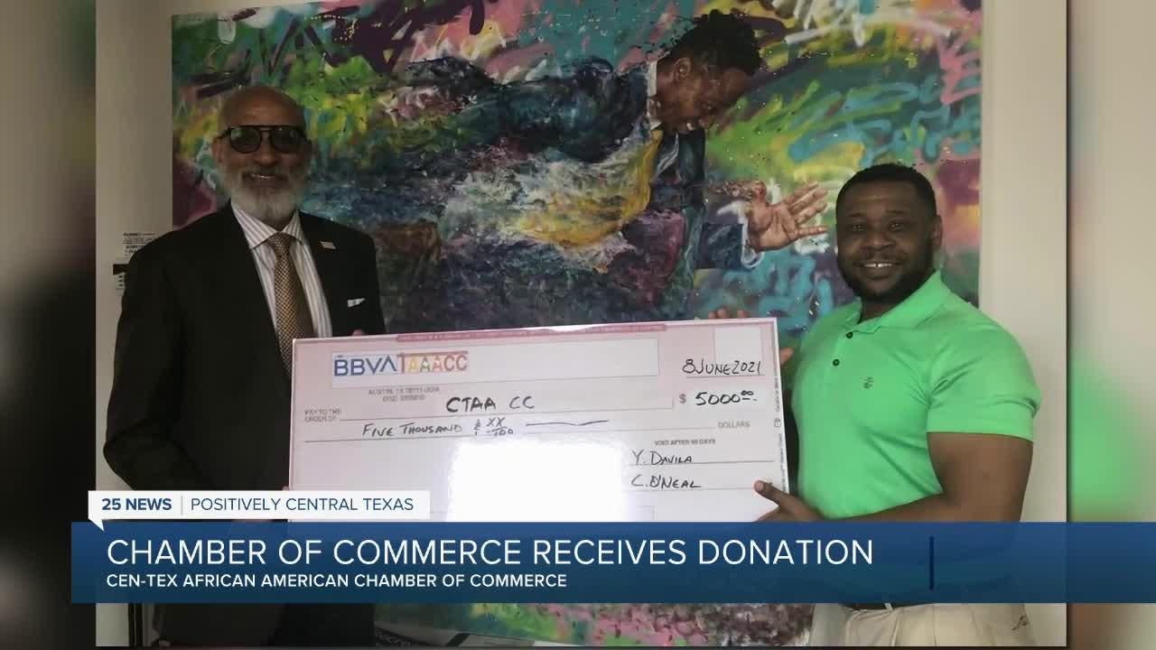 $5K donation to help Cen-Tex African American Chamber of Commerce programs