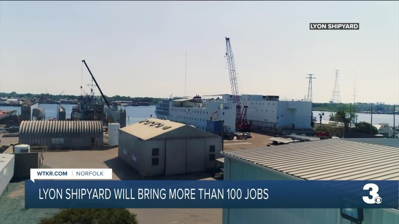 Norfolk's Lyon Shipyard to add 119 jobs, with $24 million expansion