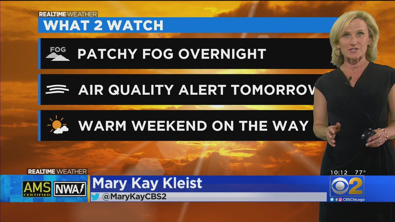 Chicago Weather: Patchy Fog Overnight