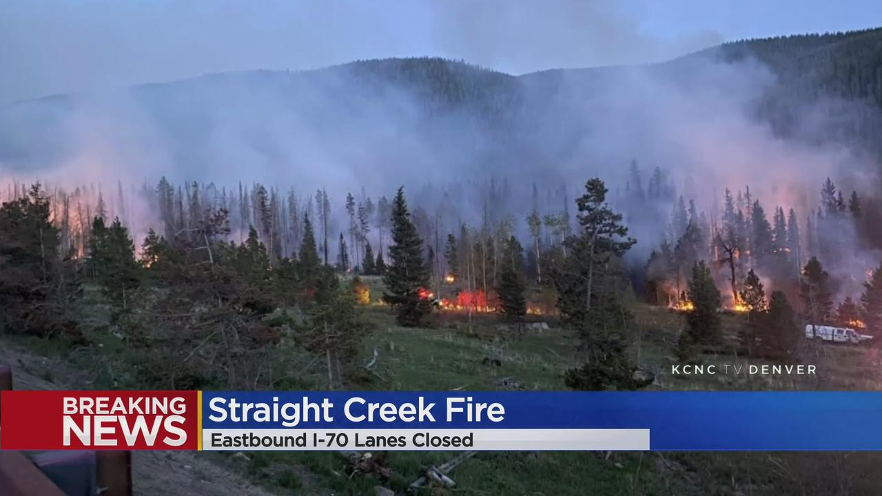 Straight Creek Fire Closes Eastbound I-70 At Silverthorne