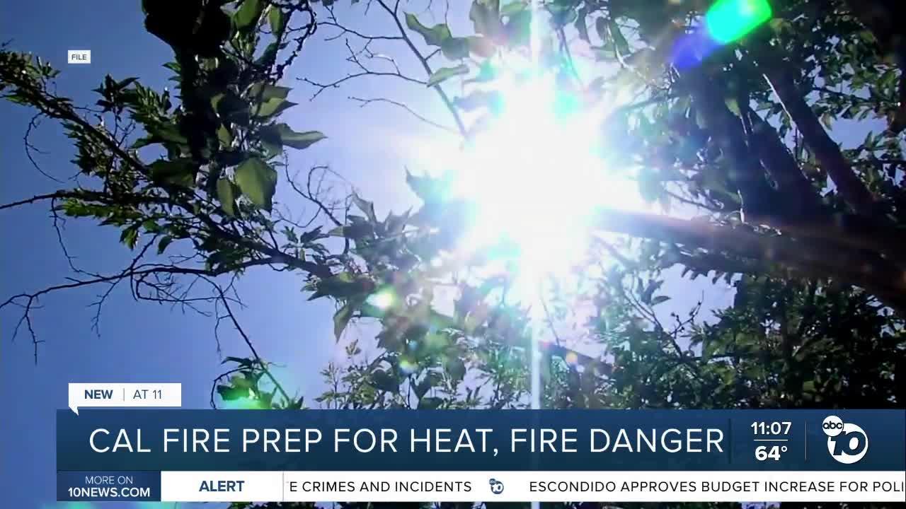 Cal Fire ready for heat, fire danger