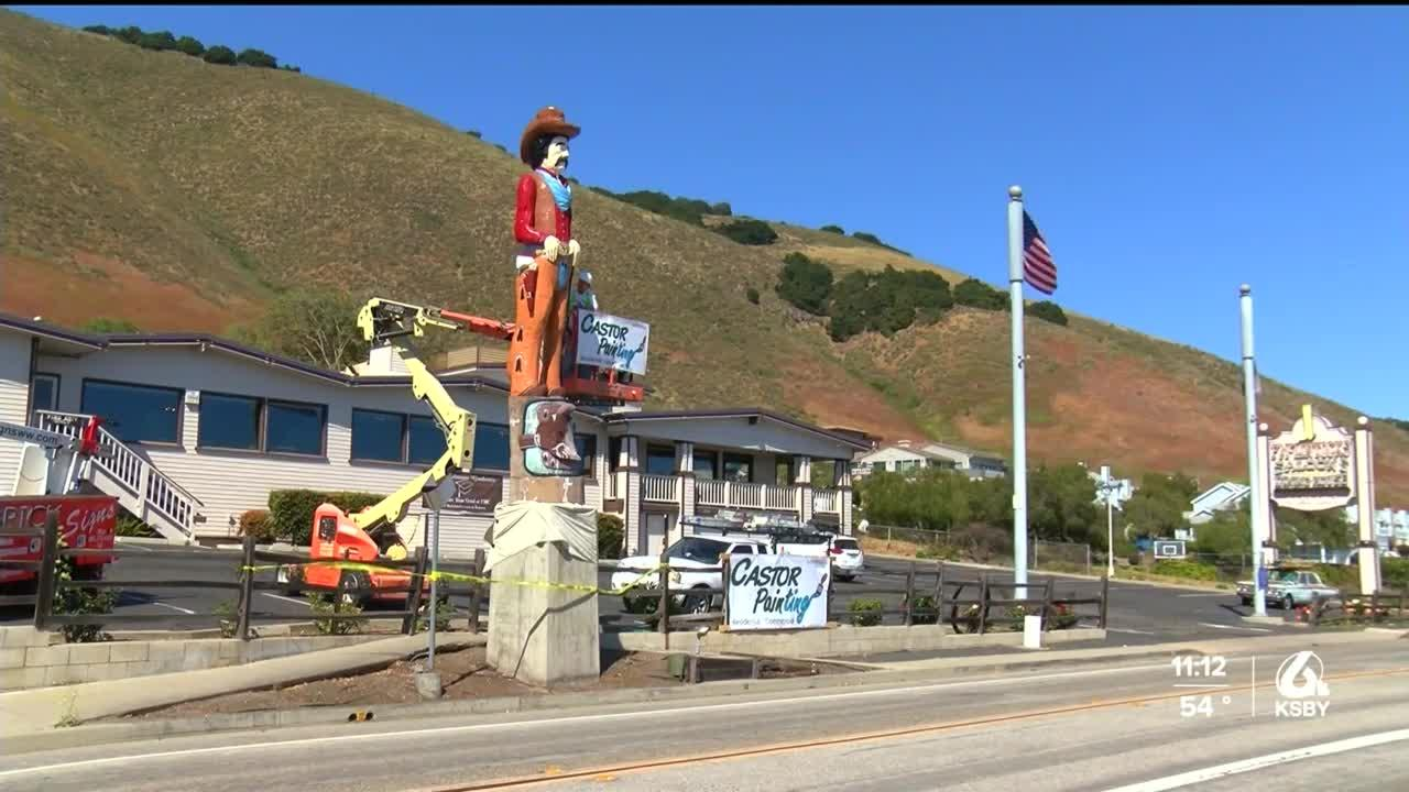'Clint the Cowboy' in Shell Beach gets a fresh coat of paint