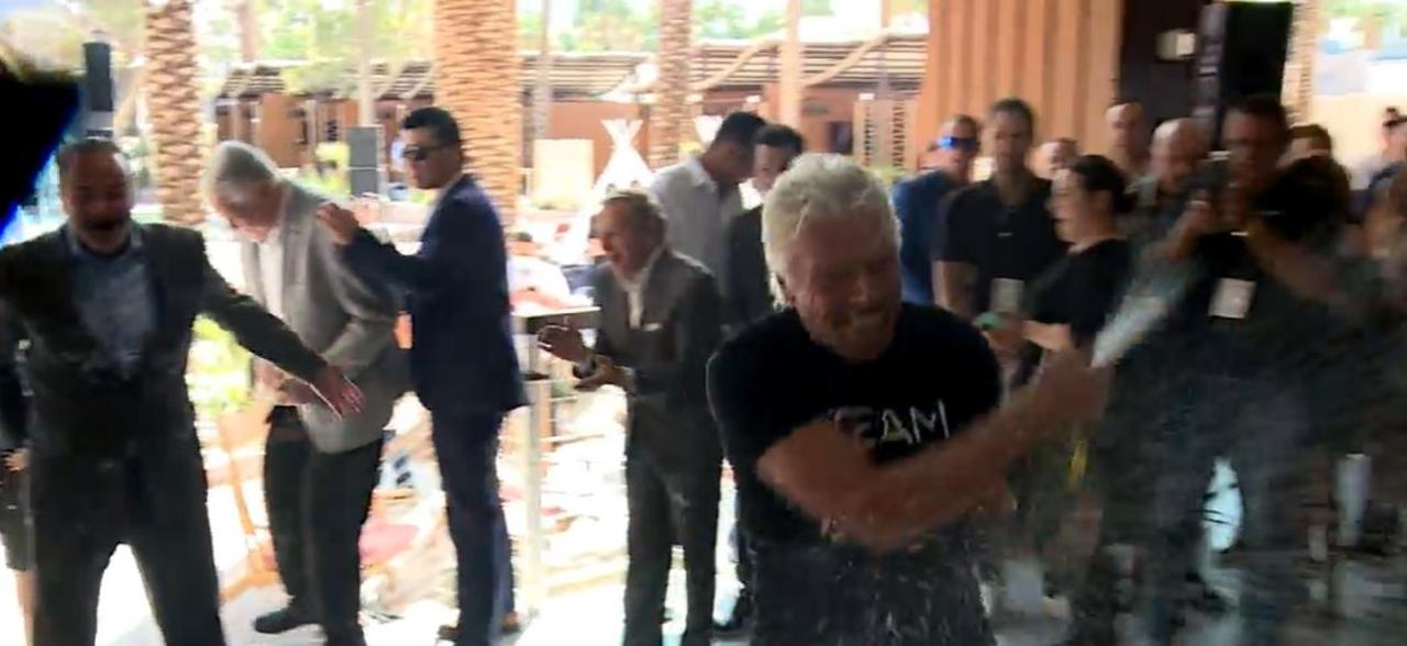 Virgin Hotels Las Vegas welcomes Sir Richard Branson, unveils revamped beach club
