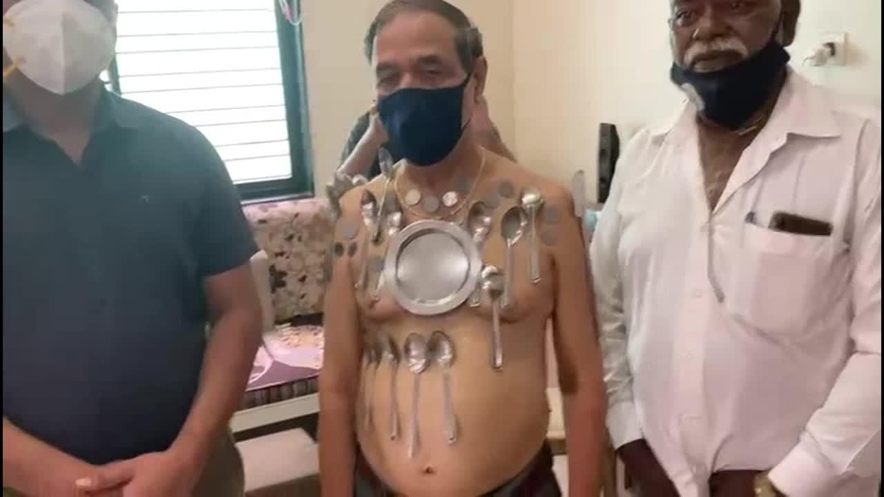 Indian man claims to have developed 'magnetic power' after taking COVID-19 vaccine