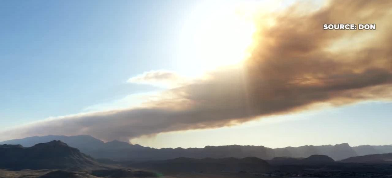 Sandy Valley Fire southwest of Las Vegas grows to 1,500 acres, human-caused