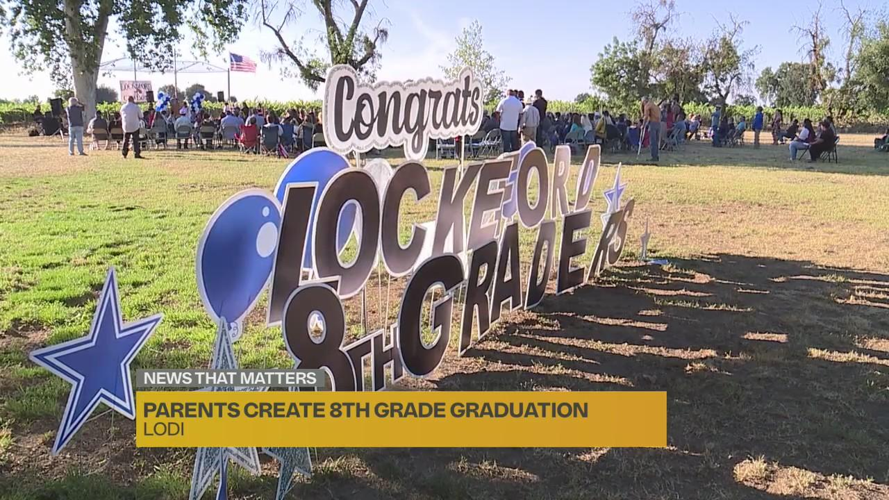 Parents in Lodi hold independent promotion ceremony for 8th graders