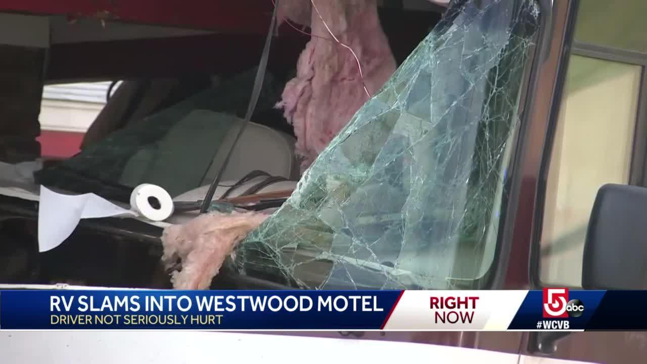 Driver facing charges after RV slams into motel