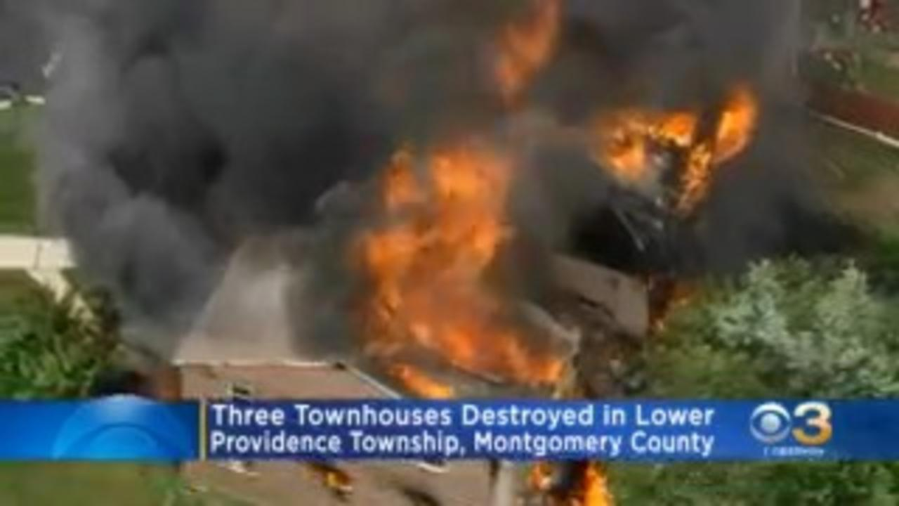 Suspect Sought After Explosions, Massive Fire Rip Through Lower Providence Township Townhouses