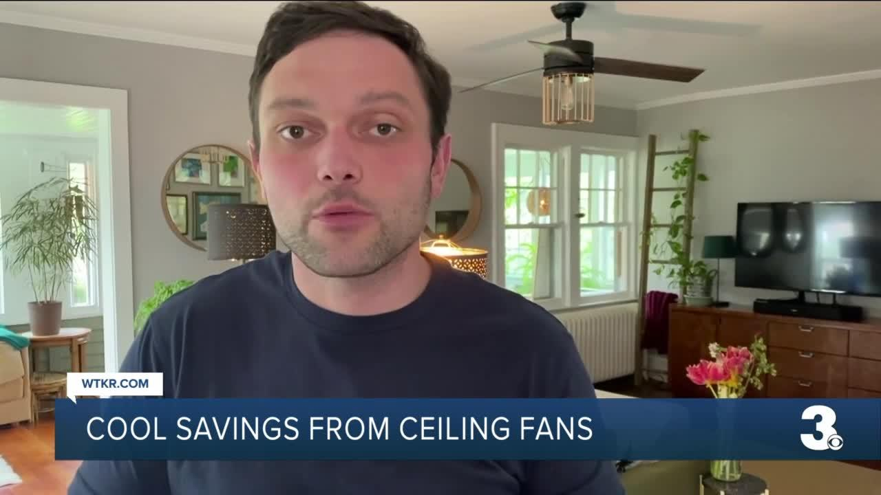 Cool savings from a ceiling fan