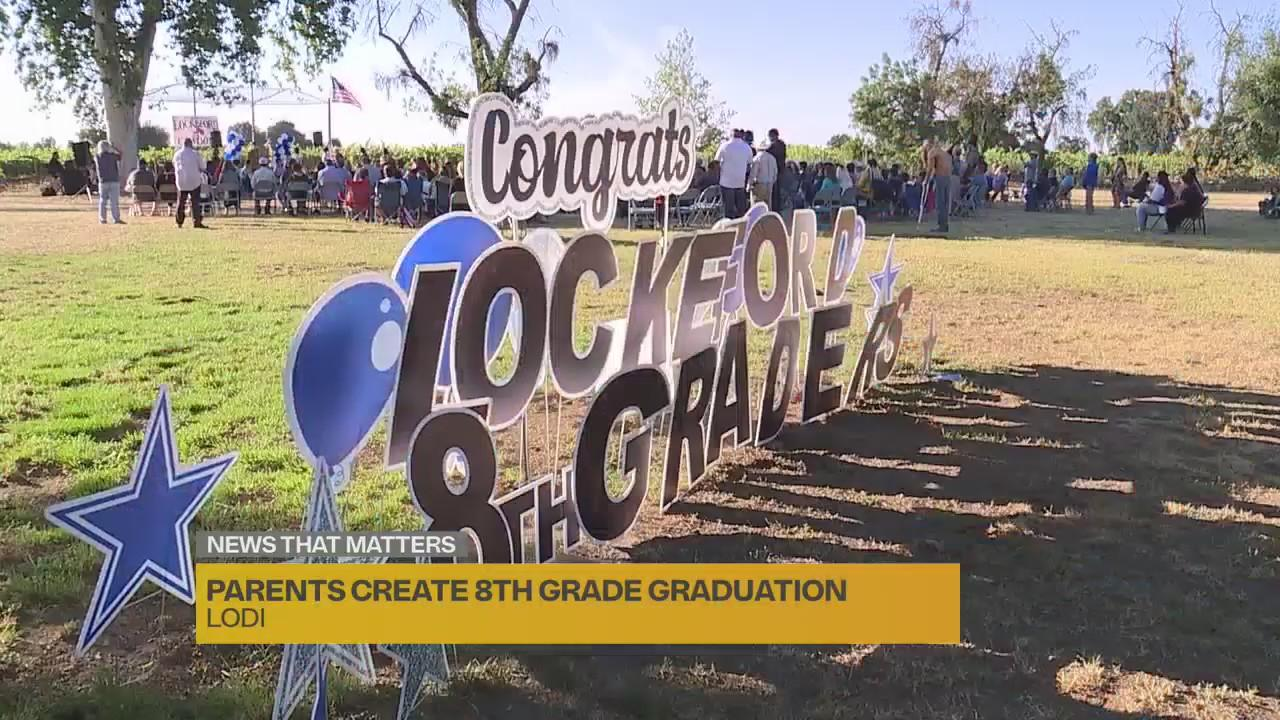 Parents in Lodi hold in-person promotion ceremony for 8th graders