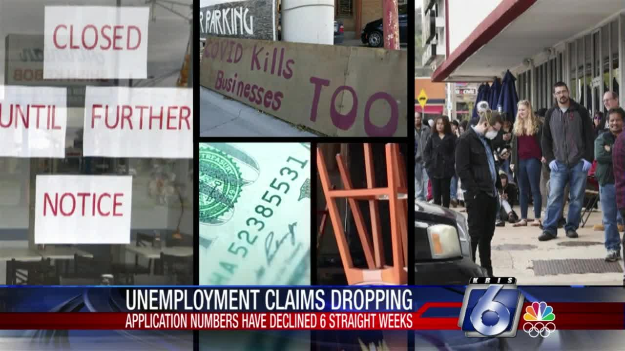 Unemployment claims dropping