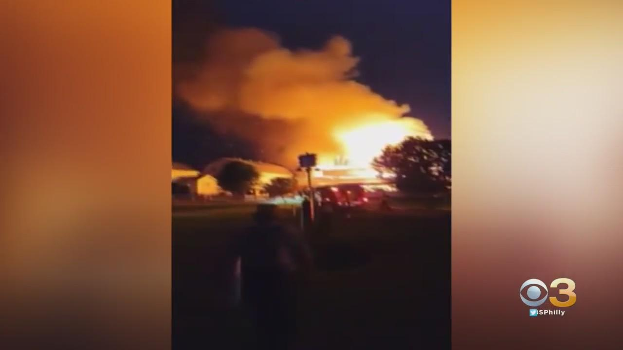 Firefighters Battle Barn Fire At Dairy Farm In Chester County